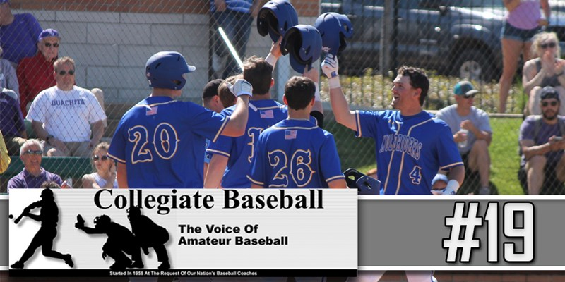 Muleriders reappear in Collegiate Baseball Newspaper's DII Top-30; check in  at No. 19 - Southern Arkansas University Athletics
